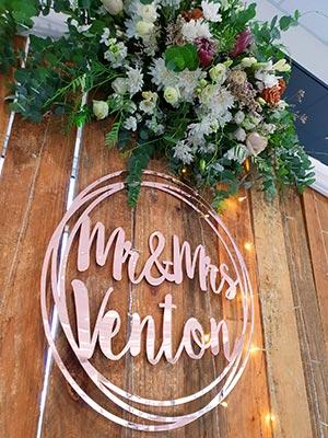 Mr & Mrs Venton - Reception at Mackay Turf Club
