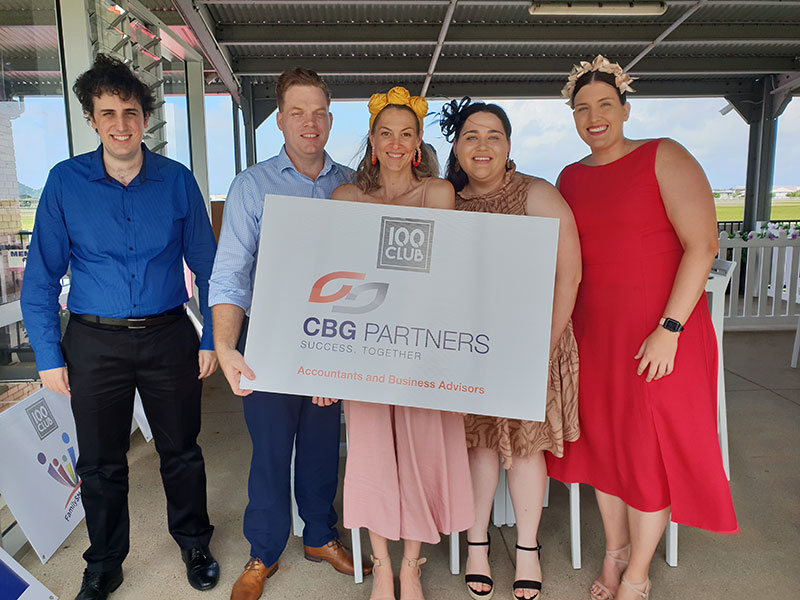 100 Club Members, CBG Partners enjoying the deck