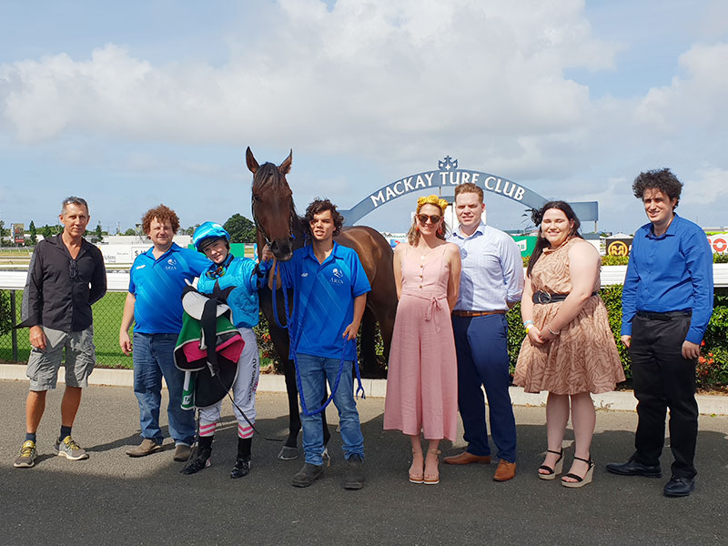 100 Club members, CBG Partners, with the winning horse